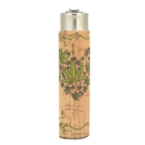 Clipper Lighter - Leaf Heart Cork Cover