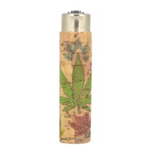 Clipper Lighter - Multi Leafs Cork Cover