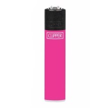 Clipper Lighter - Solid Fluo Pink