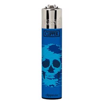 Clipper Lighter - Fade Skull Blue