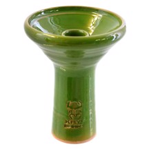 Kaya Shisha - Glazed Deep Clay Funnel Green 105 mm