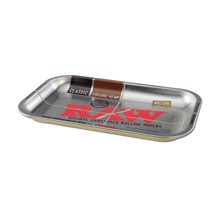 RAW - Silver Metal Rolling Tray (S)